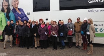 Bus tour opens doors for community engagement ahead of Health Campus opening